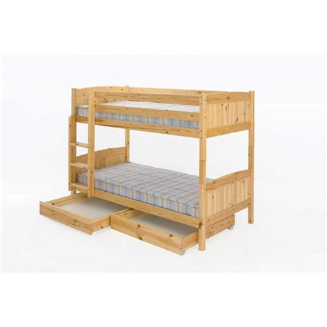 Trundle Bunk Bed With Storage Robin Solid Pine Bunk Bed With Storage Trundles