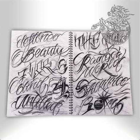 tattoo book anrijs straume lettering sketchbook