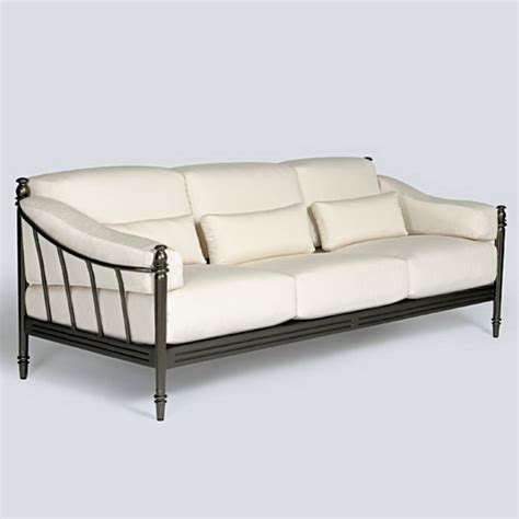 metal outdoor sofa matira metal outdoor modern cushioned