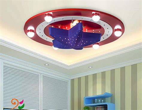 captain america ceiling light deco led bedroom playroom new