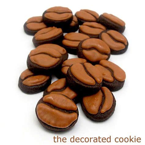 coffee bean cookies and iced coffee