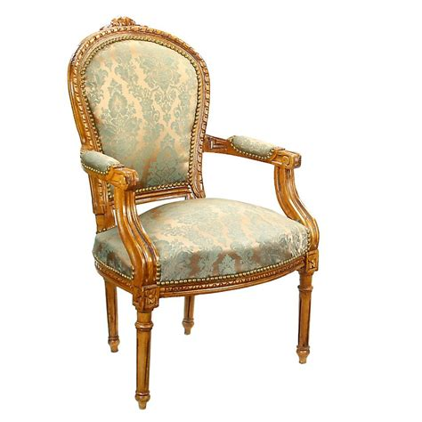 mill collection louis xv leg blue upholstered