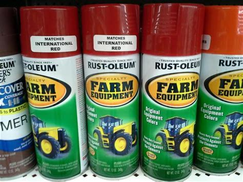 rust oleum farm equipment paint farmall cub