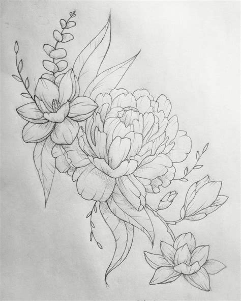 tattoo outlines pinterest 38 best magnolia flower outline tattoo images on pinterest