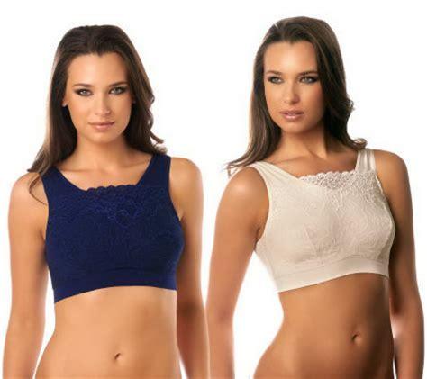 Genie Bra With Pads Bust Magic Cup Bra Tank Topbh Kemben milana bra by genie set of 2 lace overlay bras w modesty pads qvc