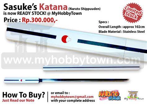 Pedang Shirasaya Katana Sasuke Black Pedang anime swords sasuke katana actual size replica singapore forums by sgclub
