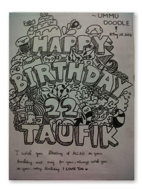 doodle ulang tahun contoh gambar doodle happy birthday keren dan mudah