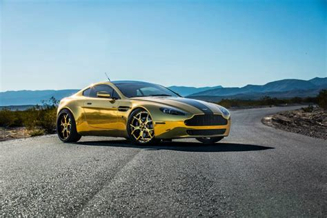 Gold On Gold Aston Martin Vantage V8 With Forgiato Wheels