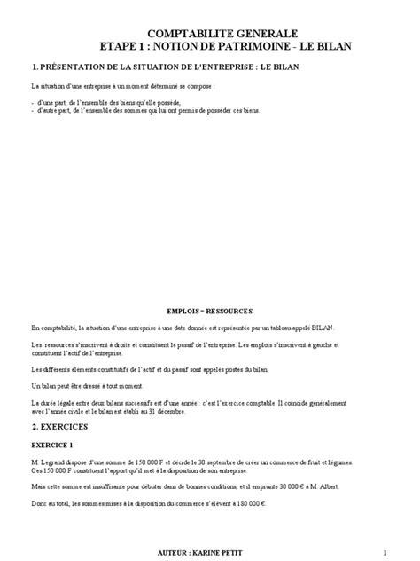 Cours Comptabilite Generale Karine Petit