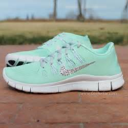 mint colored nikes customized nikeid free 5 0 w swarovski rhinestones mint