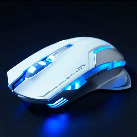Mouse Gaming Mazer white gaming mouse e 3lue mazer ii 6d 2500 dpi blue led 2 4ghz wireless gaming mouse white mar04