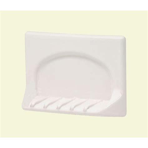 ceramic bathtub soap dish lenape 4 in x 6 in wall mounted ceramic tub soap dish in