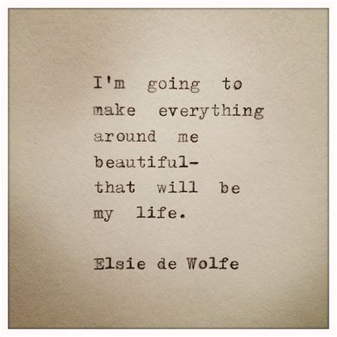 everything here is beautiful books elsie de wolfe typed typewriter quote