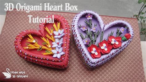 3d origami heart box tutorial origami heart box tutorial origami 3d gifts