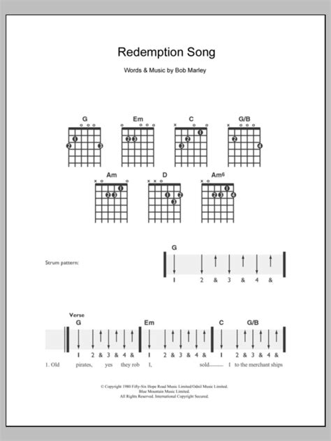 ukulele tutorial redemption song redemption song sheet music direct