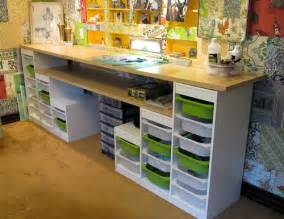 affordable craft room ideas using ikea storage and - Craft Room Furniture Cheap