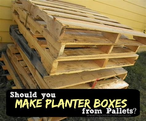 How To Make A Planter Out Of A Tire by How To Tell If A Pallet Is Safe To Use In The Garden