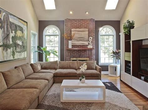 red and cream living room 20 one brick at a time fireplace accent wall ideas cheap living room with