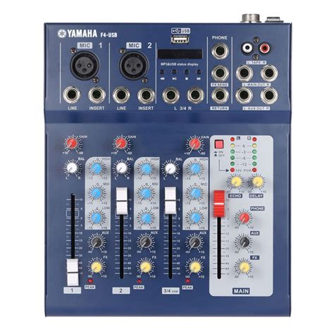 yamaha f4 usb 4 channel professional powered mixer oem