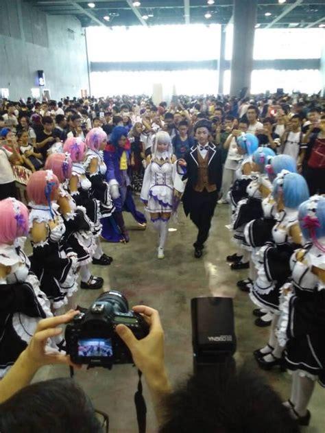 subaru and emilia cosplay cosplayer re zero subaru emilia ram dan rem