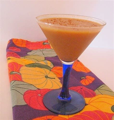 pumpkin pie in a glass with booze