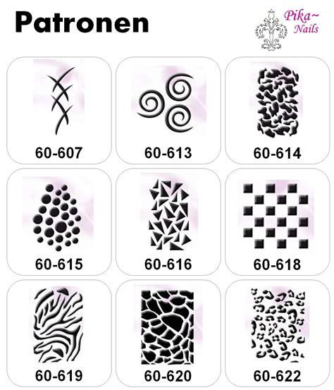 Airbrush Sjablonen Nagels by Pika Nails Sjablonen Motieven