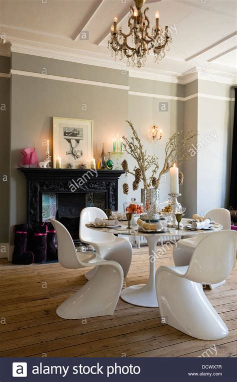 White Dining Room Chair modern dining room in victorian terrace decorated for