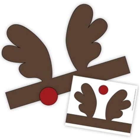 printable reindeer antlers with nose reindeer antlers headband template