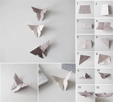 How To Make The Folded Paper - diy origami fold butterfly usefuldiy