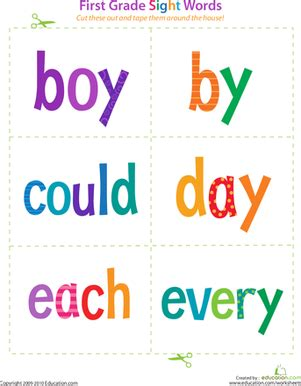 printable flash cards for first grade printable 1st grade sight word flashcards education com
