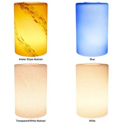 Replacement Glass L Shades Cylinder by American Lighting Led Pendant Small Cylinder Glass Shade