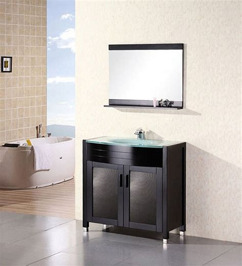 waterfall bathroom vanity design element waterfall single 36 inch modern bathroom