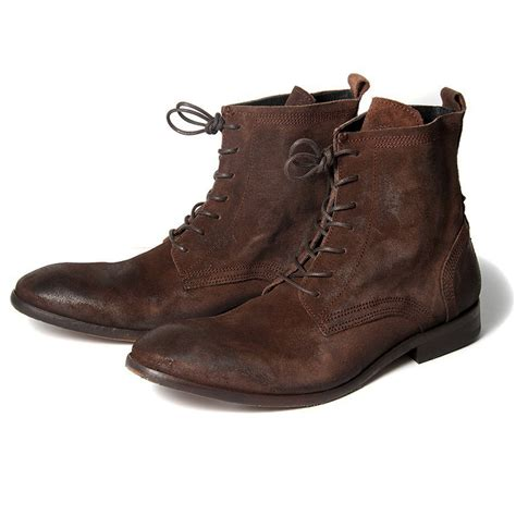 hudson boots h by hudson boots swathmore brown suede mens boot ebay