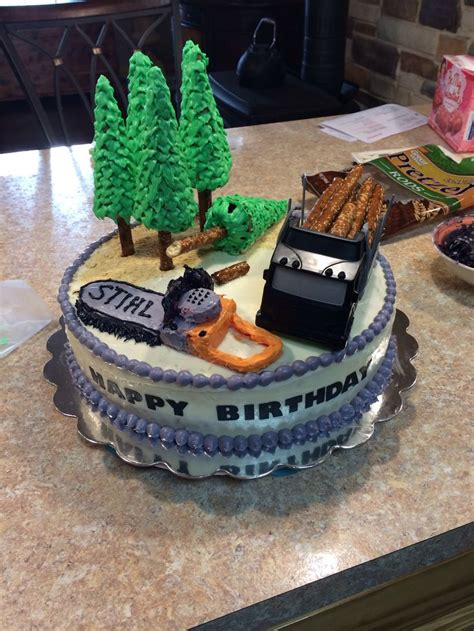 logger theme cake birthday ideas