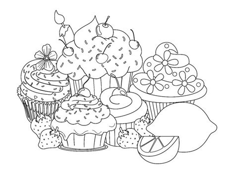 coloring pages of cute cupcakes 58 best happy birthday coloring pages images on pinterest