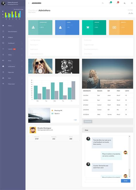 adminhero responsive bootstrap admin dashboard template