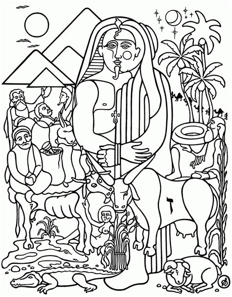 coloring pages joseph and pharaoh joseph and pharaoh coloring page coloring home