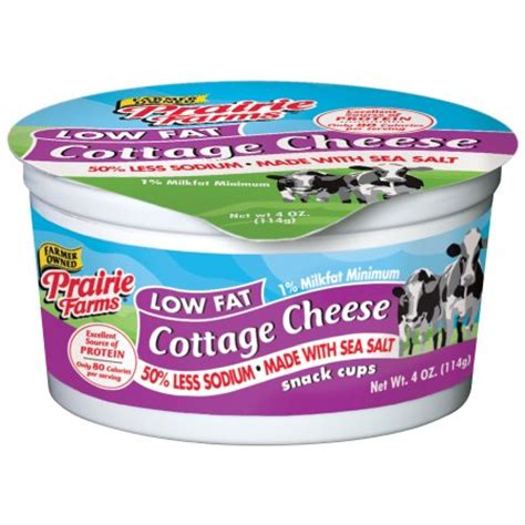 is cottage cheese high in sodium prairie farms low cottage cheese 4 oz walmart