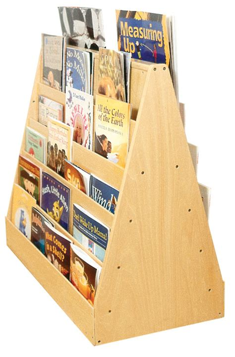 seven sided books birch sided mobile book display with five easy