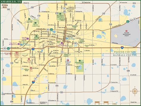 map of amarillo texas amarillo metro map digital vector creative