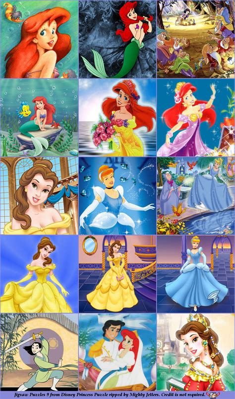 disney printable jigsaw puzzles the spriters resource full sheet view disney princess