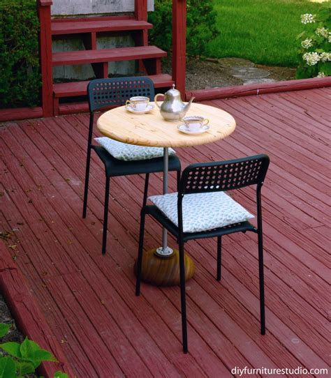 Diy Outdoor Bistro Table Rustic Modern Pedestal Bistro Table Diy Furniture Studio