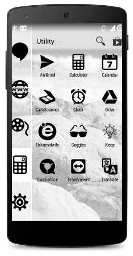theme line warna hitam gtheme tema hitam putih android untuk yang buta warna