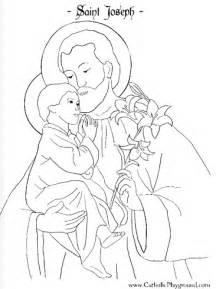 Joseph father of jesus coloring pages saint joseph coloring page