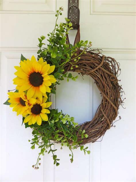 fall front door wreaths 25 best ideas about sunflower wreaths on diy