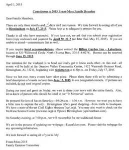 family reunion letter template doc 11591500 family reunion letter templates 2014