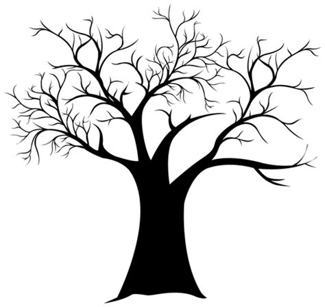 thumbprint tree template fingerprint tree templates fingerprint tree generator