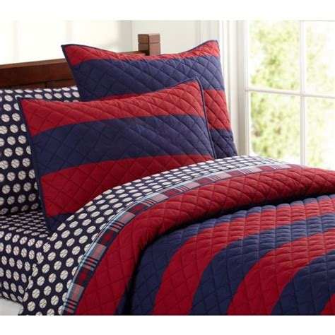 rugby comforter rugby stripe quilted bedding