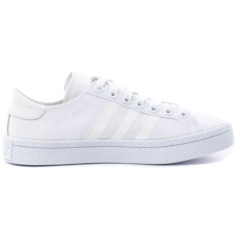 adidas coutrvantage womens canvas white trainers new shoes