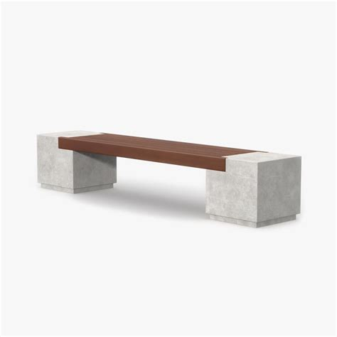 concrete and wood benches max bench concrete wood